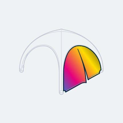 Pneumatisches Zelt 5x5 m aus Hightech Materialen | Display Max