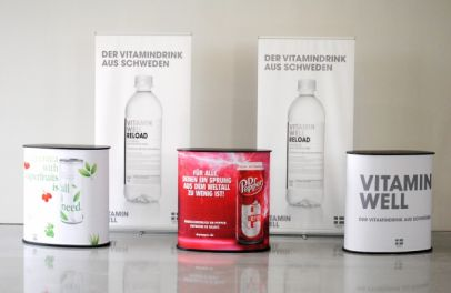 Promotiontheken Oval für Vitamin Well