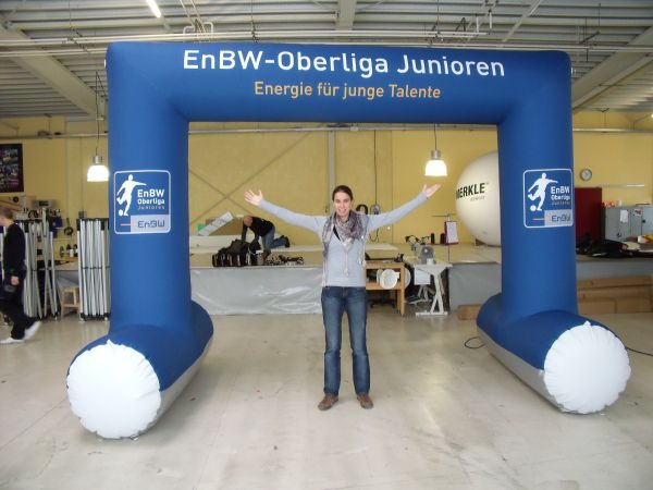 Werbedisplay Produktion Januar